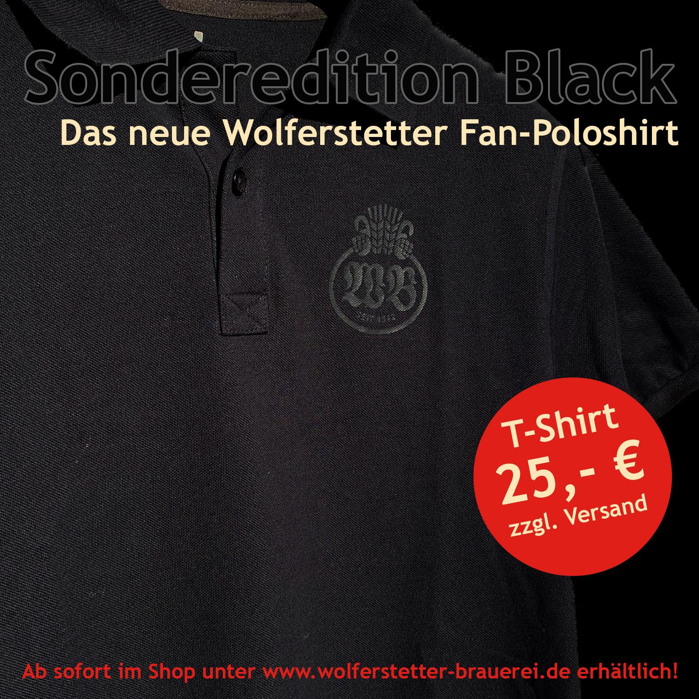 Wolferstetter Fan-Poloshirt Black